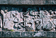 MEXICO, MAYAN, YUCATAN Chichén Itzá; Warrior Temple, jaguar