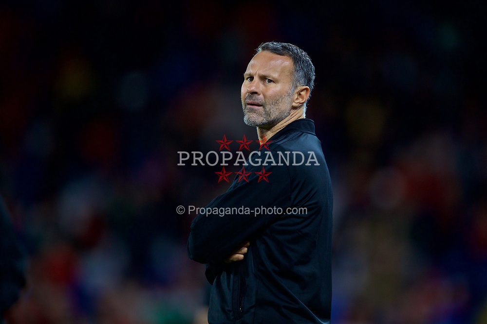 CARDIFF, WALES - Thursday, September 6, 2018: Wales' manager Ryan Giggs during the UEFA Nations League Group Stage League B Group 4 match between Wales and Republic of Ireland at the Cardiff City Stadium. (Pic by David Rawcliffe/Propaganda)