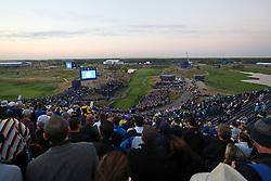 A general view overlooking the 1st tee on day one of the Ryder Cup at Le Golf National, Saint-Quentin-en-Yvelines, Paris.