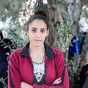 Samer 19 years old from Kobani Syria in Kara Tepe camp in Lesvos, Greece