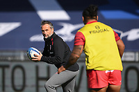 Rugby Union - 2019 / 2020 Heineken Cup - Semi-final - Exeter Chiefs vs Toulouse<br /> <br /> Toulouse's Head Coach Ugo Mola during the pre match warm up, at Sandy Park.<br /> <br /> COLORSPORT/ASHLEY WESTERN
