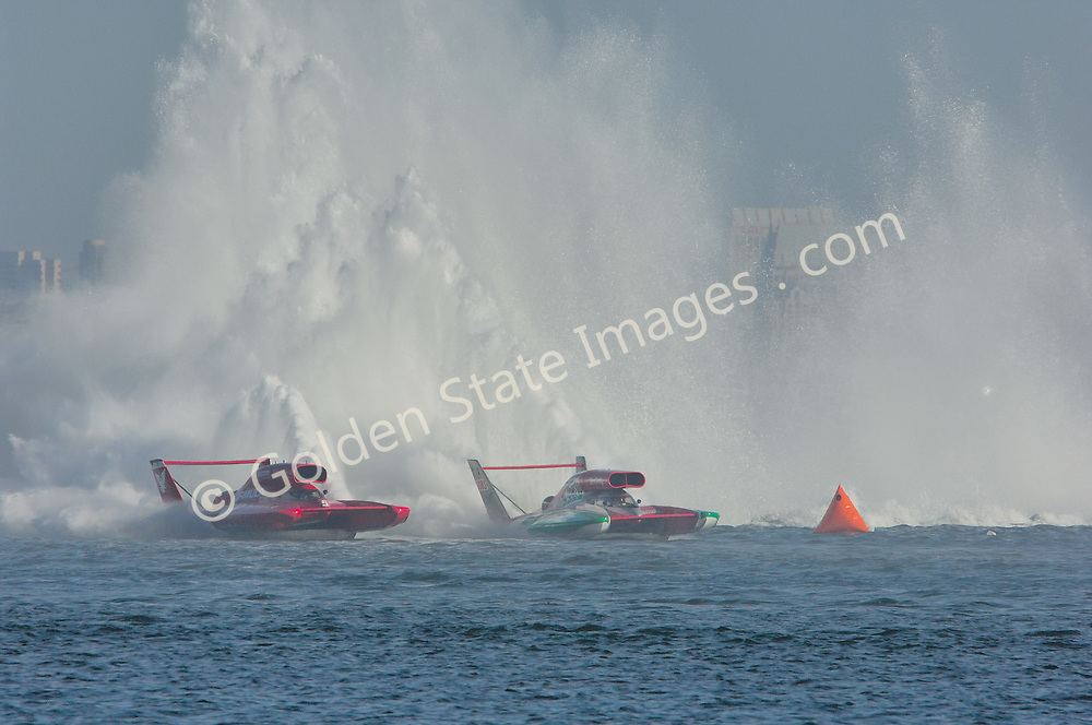 Each year in September the unlimited hydroplanes return to San Diegos  Mission bay to put on a show.