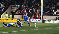 Photo: Mark Stephenson.<br />Walsall v Accrington Stanley. Coca Cola League 2. 31/03/2007. Walsall's Kevin Harper scores their goal