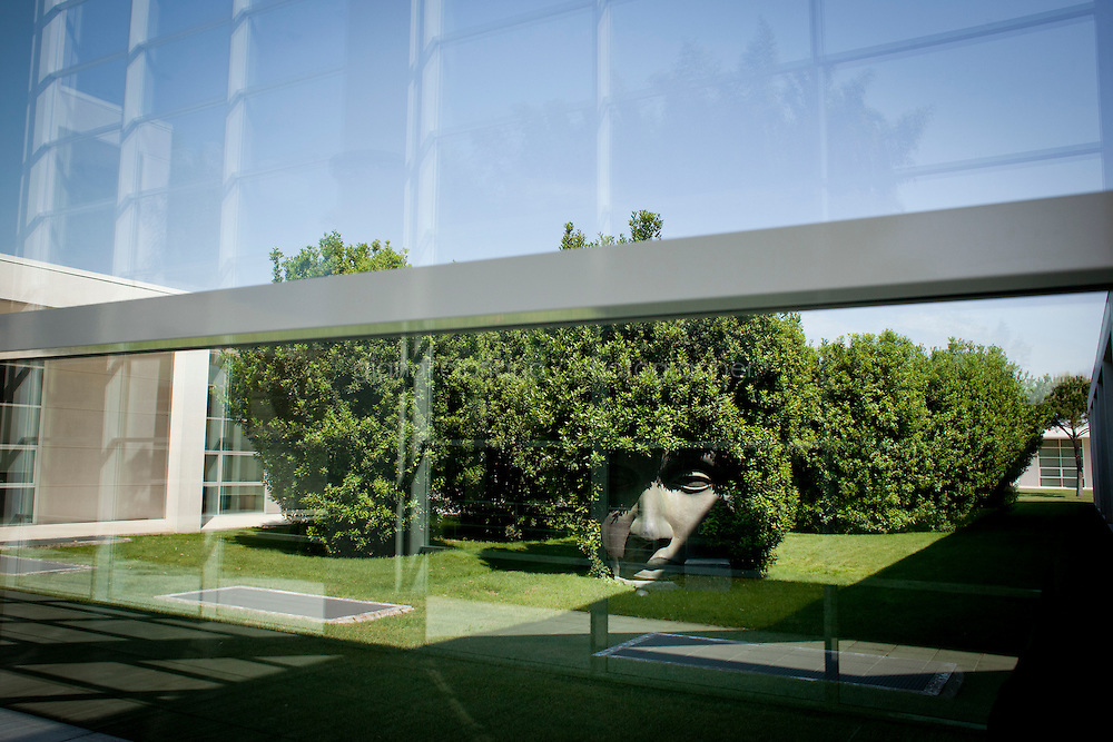 SANT'ELPIDIO A MARE, ITALY - MAY 20: A sculpture is here at the Tod's headquarters in Sant'Elpidio a Mare (FM, Marche), Italy, on May 20, 2011. The Tod's headquarters was designed by Della Valle's wife Barbara Pistilli and was inaugurated in 1998. Tod's Group is an Italian company which produces shoes and other leather goods, and is presided over by businessman Diego Della Valle. It is most famous for its driving shoes.<br /> <br /> Gianni Cipriano for Le Monde