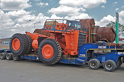 Heavy Equipment On Trailer