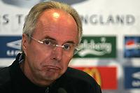 Photo: Paul Thomas.<br /> England Press Conference. 29/05/2006.<br /> <br /> Sven-Goran Eriksson.