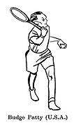Sorry, No Croquet ; Wimbledon tennis<br /> Budge Patty ( USA )