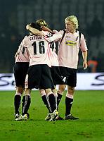L'esultanza dei giocatori del Palermo per la vittoria.<br /> Torino 28/02/2010 Stadio Olimpico<br /> Juventus Palermo - Posticipo del Campionato di Serie A Tim 2009-10.<br /> Foto Insidefoto