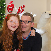 Christopher Forde from Ennis, with is daughter Aoibheann O'Dwyer-Forde boarding their Santa Flight