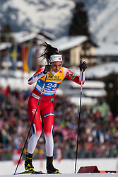 February 21, 2019 - Seefeld In Tirol, AUSTRIA - 190221 Kristine StavÅ's Skistad of Norway competes in women's cross-country skiing sprint qualification during the FIS Nordic World Ski Championships on February 21, 2019 in Seefeld in Tirol..Photo: Joel Marklund / BILDBYRN / kod JM / 87879 (Credit Image: © Joel Marklund/Bildbyran via ZUMA Press)
