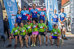 All of National Champions during the medal ceremony of XCO National Championship of Slovenia 2021 on 27.06.2021 in Kamnik, Slovenia. Photo by Urban Meglič / Sportida