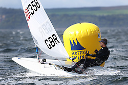 Day 4 NeilPryde Laser National Championships 2014 held at Largs Sailing Club, Scotland from the 10th-17th August.<br /> <br /> 201358, John BOOTH<br /> <br /> Image Credit Marc Turner