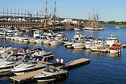 Les Grands voiliers au Vieux-Port de Montreal, Quebec, Canada