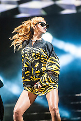 Rihanna headlines the main stage on Saturday, T in the Park 2013.<br /> ©Michael Schofield.