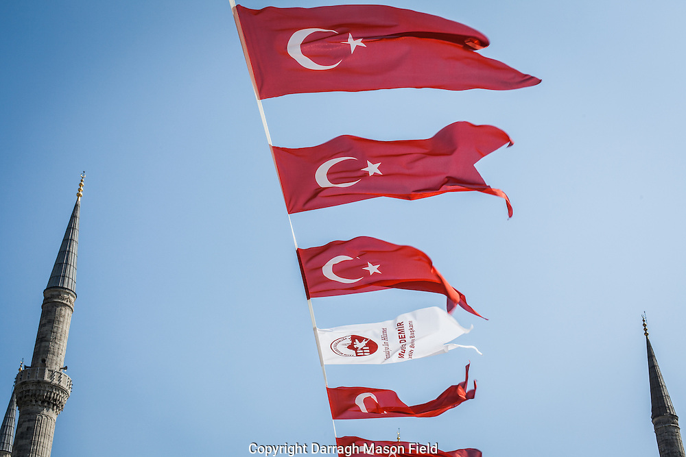 The Crescent Moon and star of Turkey