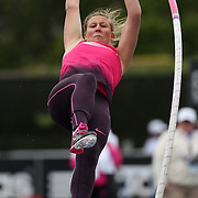 Holly Bleasedale, Great Britain, in action during the Women's Pole Vault during the Diamond League Adidas Grand Prix at Icahn Stadium, Randall's Island, Manhattan, New York, USA. 25th May 2013. Photo Tim Clayton