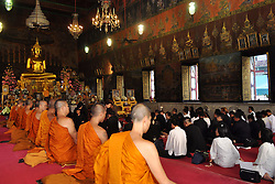 BANGKOK, Oct. 23, 2016 (Xinhua) -- Mourners take part in a meditation event in memory of late Thai King Bhumibol Adulyadej in Bangkok, Thailand, Oct. 23, 2016. King Bhumibol, the world's longest-reigning monarch, died on Oct. 13 in Bangkok's Siriraj Hospital at the age of 88. (Xinhua/Rachen Sageamsak).****Authorized by ytfs* (Credit Image: © Rachen Sageamsak/Xinhua via ZUMA Wire)