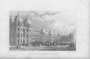 Sussex Place, Regent's Park, engraving from 'Metropolitan Improvements, or London in the Nineteenth Century' London, England, UK 1828