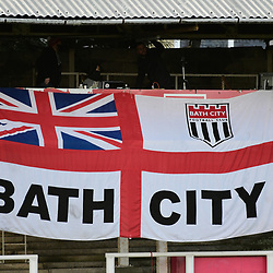 Bath City football flag at Twerton Park