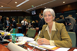 Christine Lagarde, France's finance minister, smiles during ECOFIN, the meeting of EU economic and finance ministers, in Brussels, Belgium, Tuesday, Dec. 2, 2008. (Photo © Jock Fistick)