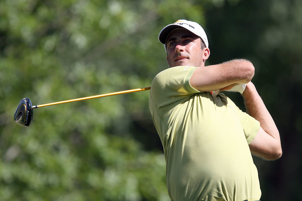 10 August 2007: Geoff Ogilvy drives off the 13th tee during the second round of the 89th PGA Championship at Southern Hills Country Club in Tulsa, OK.