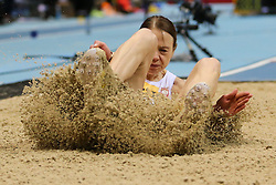 08.03.2014, Ergo Arena, Sopot, POL, IAAF, Leichtathletik Indoor WM, Sopot 2014, im Bild skok w dal, long jump, Teresa Dobija (POL) // skok w dal, long jump, Teresa Dobija (POL)  during day two of IAAF World Indoor Championships Sopot 2014 at the Ergo Arena in Sopot, Poland on 2014/03/08. EXPA Pictures © 2014, PhotoCredit: EXPA/ Newspix/ Tomasz Jastrzebowski<br /> <br /> *****ATTENTION - for AUT, SLO, CRO, SRB, BIH, MAZ, TUR, SUI, SWE only*****