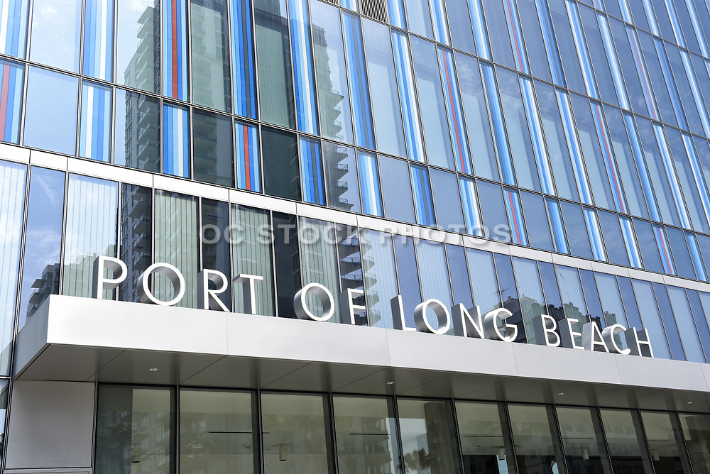 Metal Letter Signage on the Exterior of the Port of Long Beach Headquarters Building