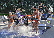 Ceili McCabe of West Virginia competes in the steeplechase  during the Big 12 Outdoor Track & Field Championship at R.V. Christian Track & Field Complex in Manhattan, Kansas.