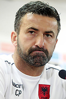 Albania's coach Christian Panucci in press conference before training session. October 5,2017.(ALTERPHOTOS/Acero)