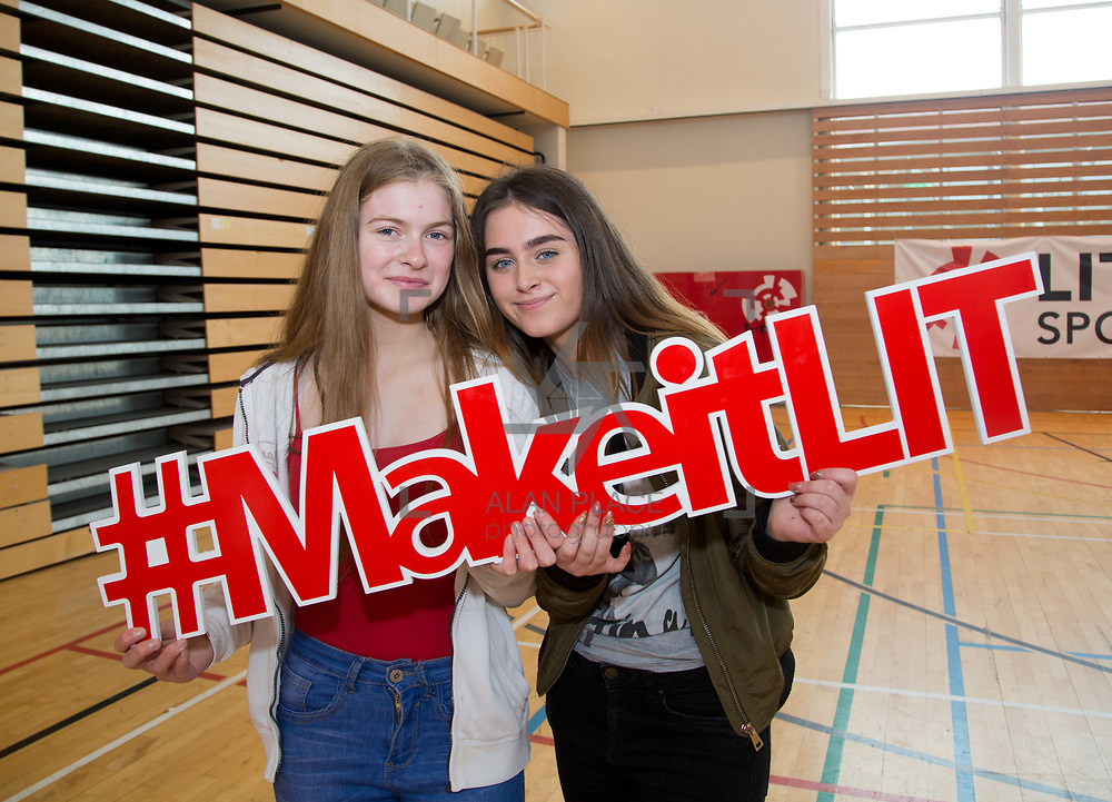 20.10.17.            <br /> Enjoying the LIT (Limerick School of Technology) open day were, Emily McCarthy and Shauna Kiely, St. Mary's Secondary School. Picture: Alan Place