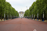 Pall Mall Street is seen nearly empty facing the Kingdom's Buckingham Palace in London, Britain, May 3, 2020. Britons are now in their sixth week of lockdown due to the Coronavirus pandemic. Countries around the world are taking increased measures to stem the widespread of the SARS-CoV-2 coronavirus which causes the Covid-19 disease. (Photo/ Vudi Xhymshiti)