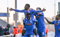 Theo Robinson of Colchester United celebrates scoring to make it 2-0 - Mandatory by-line: Arron Gent/JMP - 08/02/2020 - FOOTBALL - JobServe Community Stadium - Colchester, England - Colchester United v Plymouth Argyle - Sky Bet League Two