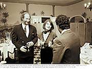 Ed Victor, Josephine Hart and Sonny Mehta. Book party given by Ed Victor. Frankfurt Book Fair. 1991. Film 91677f13<br />© Copyright Photograph by Dafydd Jones<br />66 Stockwell Park Rd. London SW9 0DATel 0171 733 0108