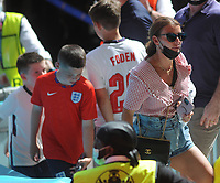 Football - 2021 EUFA European Championships - Finals - Group D - England vs Croatia, Wembley Stadium<br /> <br /> Coleen Rooney at Wembley today with her boys<br /> <br /> Credit : COLORSPORT/Andrew Cowie