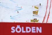 SOELDEN, AUSTRIA. OCTOBER 17 2020:  1st Women's Giant Slalom as part of the Alpine Ski World Cup in Solden on October 17, 2020; Run 2, Ester Ledecka (CZE) in action ( Pierre Teyssot/ESPA Images-Image of Sport)
