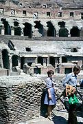 The Roman Colosseum or Flavian Amphitheatre,  Rome, Italy in 1974 built 70–80 AD