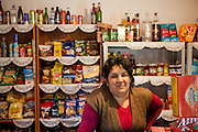 Portrait of Liliana (39) - a Roma woman - who owns a little grocery store in the village of Marginenii de Jos.