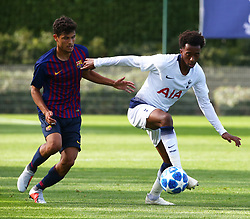 October 3, 2018 - London, England, United Kingdom - Enfield, UK. 03 October, 2018.Tashan Oakley-Boothe of Tottenham Hotspur.during UEFA Youth League match between Tottenham Hotspur and FC Barcelona at Hotspur Way, Enfield. (Credit Image: © Action Foto Sport/NurPhoto/ZUMA Press)