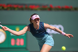 March 7, 2019 - Indian Wells, CA, U.S. - INDIAN WELLS, CA - MARCH 07: Andrea Petkovic (GER) reaches for a forehand during the BNP Paribas Open on March 7, 2019 at Indian Wells Tennis Garden in Indian Wells, CA. (Photo by George Walker/Icon Sportswire) (Credit Image: © George Walker/Icon SMI via ZUMA Press)