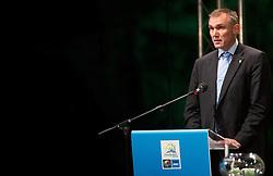 Kamil Novak, FIBA Europe's Secretary General during FIBA Europe Eurobasket 2013 draw ceremony on November 18, 2012 in Postojna cave, Postojna, Slovenia. (Photo By Vid Ponikvar / Sportida)
