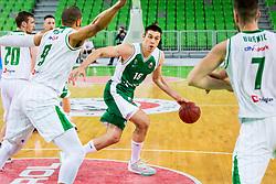 Marko Josilo of Krka during basketball match between KK Petrol Olimpija and KK Krka in Playoffs of Liga Nova KBM, on March 17, 2018 in Arena Stozice, Ljubljana, Slovenia. Photo by Ziga Zupan / Sportida