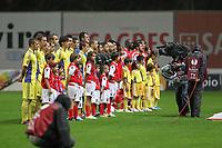 20111103 Braga: SC Braga vs. NK Maribor, UEFA Europa League, Group H, 4th round. In picture: teams line-up. Photo: Pedro Benavente/Cityfiles