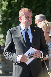 © Licensed to London News Pictures. 30/09/2015. Leeds, UK. Picture shows Sir Gary Verity. A Remembrance service has taken place for former Yorkshire & England cricket captain Brian Close. Mr Close died at his home in Baildon aged 84 after a long battle with cancer. Photo credit: Andrew McCaren/LNP
