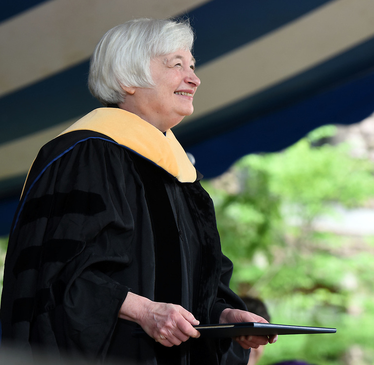 Honorary degrees were awarded at Yale University's 314th Commencement, New Haven, CT. Janet Yellen, chair of the US Federal Reserve System was a recipient.