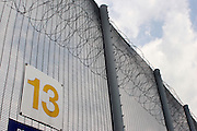 Security fence at HMP Downview.
