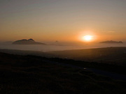 The sun sets over the Blasket Islands in County kerry as a low mist envelopes the sea on a beautiful autumn evening at the weekend..Picture by Don MacMonagle Sunset over The Blasket Islands in County Kerry, Ireland.<br /> Photo Don MacMonagle