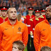 NLD/Amsterdam/20121114 - Vriendschappelijk duel Nederland - Duitsland, Johnny Heitinga en ...........