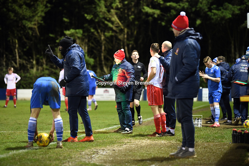 Swindon Supermarine football hosts Hayes and Yeading at the webbswood stadium in the southern premier league Swindon Wiltshire UK 25/02/2020 Final score 1-1