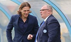 Peterborough United Manager Steve Evans talks with Wycombe Wanderers manager Gareth Ainsworth before kick-off - Mandatory by-line: Joe Dent/JMP - 03/11/2018 - FOOTBALL - Adam's Park - High Wycombe, England - Wycombe Wanderers v Peterborough United - Sky Bet League One