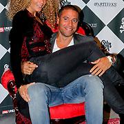 NLD/Amsterdam/20111007 - Presentatie Marc Ecko watches, Fajah Lourens en partner Roberto da Costa